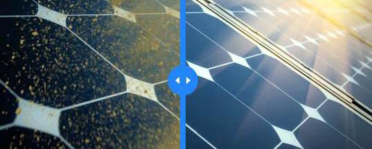 Tecnologia mantém painéis solares limpos